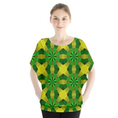 Background Colour Circle Yellow Green Blouse