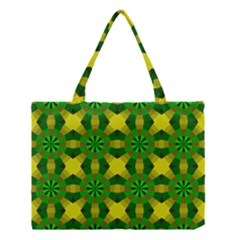 Background Colour Circle Yellow Green Medium Tote Bag