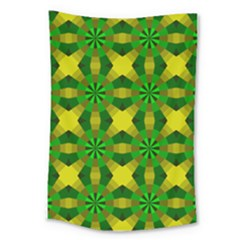 Background Colour Circle Yellow Green Large Tapestry
