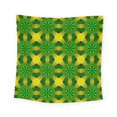 Background Colour Circle Yellow Green Square Tapestry (small)