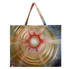 The Painters Universe Zipper Large Tote Bag
