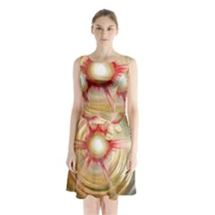 The Painters Universe Sleeveless Chiffon Waist Tie Dress