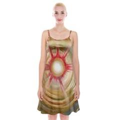 The Painters Universe Spaghetti Strap Velvet Dress