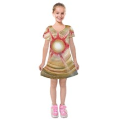 The Painters Universe Kids  Short Sleeve Velvet Dress