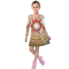 The Painters Universe Kids  Long Sleeve Velvet Dress
