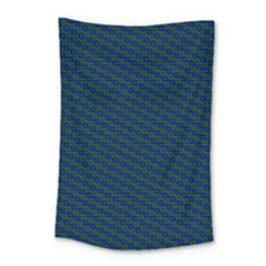 Chain Blue Green Woven Fabric Small Tapestry