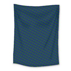 Chain Blue Green Woven Fabric Medium Tapestry