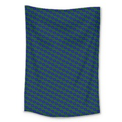 Chain Blue Green Woven Fabric Large Tapestry