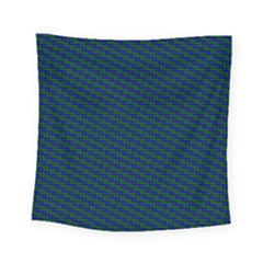 Chain Blue Green Woven Fabric Square Tapestry (small)
