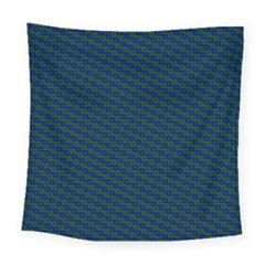 Chain Blue Green Woven Fabric Square Tapestry (large)
