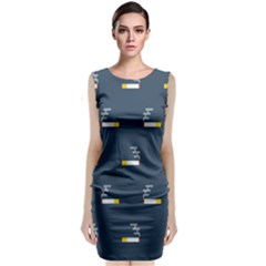 Cigarette Grey Classic Sleeveless Midi Dress