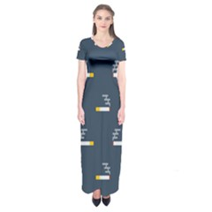 Cigarette Grey Short Sleeve Maxi Dress