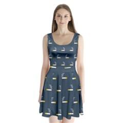 Cigarette Grey Split Back Mini Dress