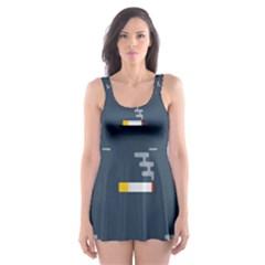 Cigarette Grey Skater Dress Swimsuit
