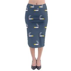 Cigarette Grey Midi Pencil Skirt