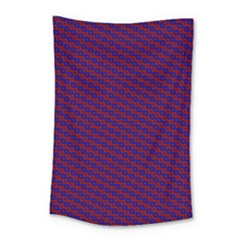 Chain Blue Red Woven Fabric Small Tapestry
