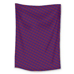 Chain Blue Red Woven Fabric Large Tapestry
