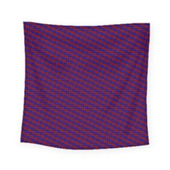 Chain Blue Red Woven Fabric Square Tapestry (small)