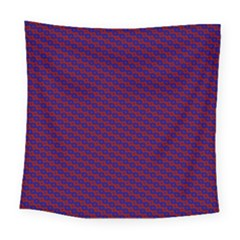 Chain Blue Red Woven Fabric Square Tapestry (large)