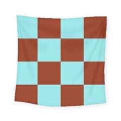 Box Chevron Brown Blue Square Tapestry (small)