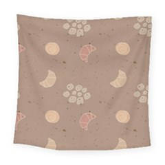 Bread Cake Brown Square Tapestry (large)