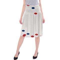 Circle Red Blue Midi Beach Skirt