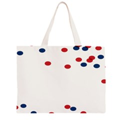 Circle Red Blue Large Tote Bag