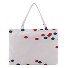 Circle Red Blue Medium Tote Bag