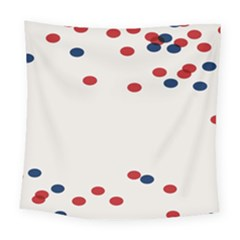 Circle Red Blue Square Tapestry (large)