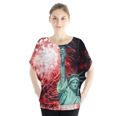 The Statue Of Liberty And 4th Of July Celebration Fireworks Blouse