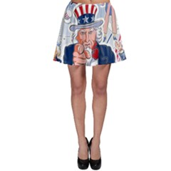 United States Of America Celebration Of Independence Day Uncle Sam Skater Skirt
