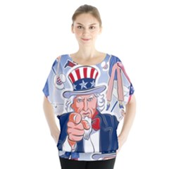 United States Of America Celebration Of Independence Day Uncle Sam Blouse