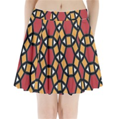 Circle Ball Red Yellow Pleated Mini Skirt
