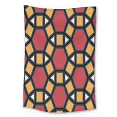 Circle Ball Red Yellow Large Tapestry