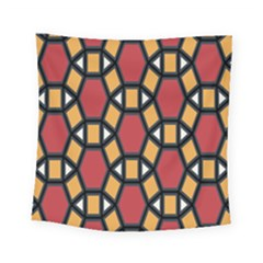 Circle Ball Red Yellow Square Tapestry (small)
