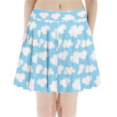 Cloud Blue Sky Pleated Mini Skirt