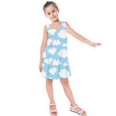 Cloud Blue Sky Kids  Sleeveless Dress