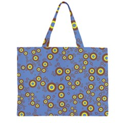Circle Purple Yellow Large Tote Bag