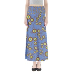 Circle Purple Yellow Maxi Skirts