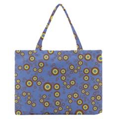 Circle Purple Yellow Medium Zipper Tote Bag