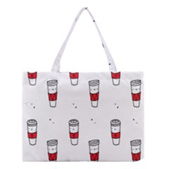 Coffee Cup Glass Medium Tote Bag