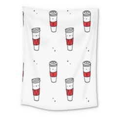 Coffee Cup Glass Medium Tapestry