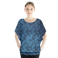Blue Texture Blouse