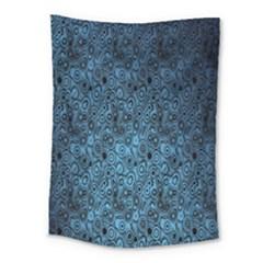 Blue Texture Medium Tapestry