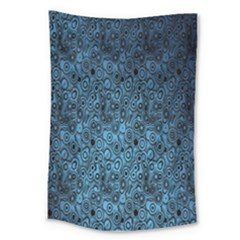 Blue Texture Large Tapestry