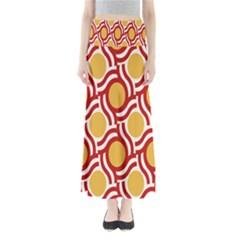 Circle Orange Red Maxi Skirts