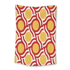 Circle Orange Red Small Tapestry