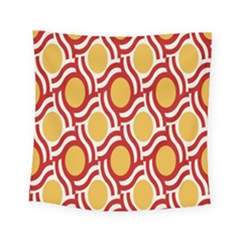 Circle Orange Red Square Tapestry (small)