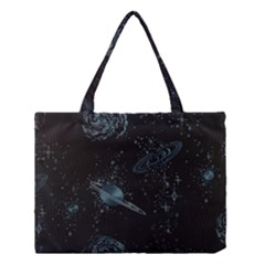 Decoboom Engraved Pickguard Space Saturnus Medium Tote Bag