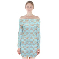 Crown King Paris Long Sleeve Off Shoulder Dress